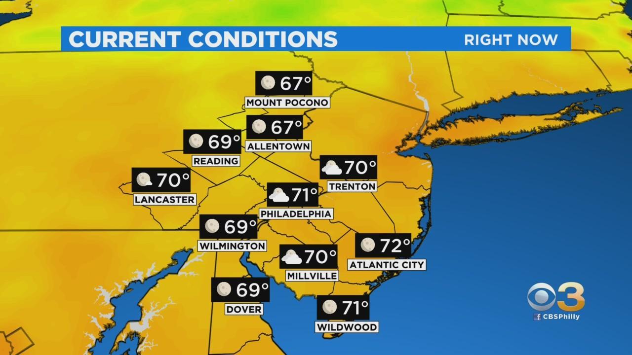 Philadelphia Weather: Spotty Storms Today