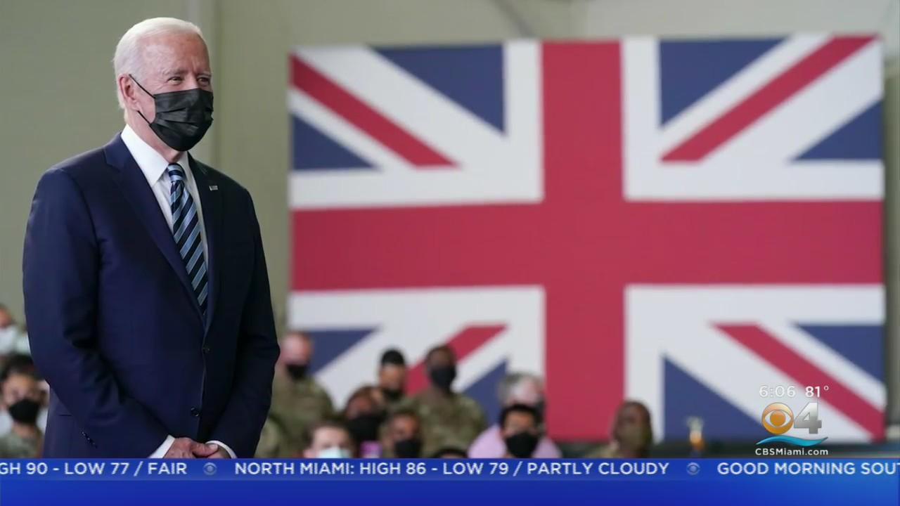 President Biden Addressed U.S. Troops In London During Foreign Trip