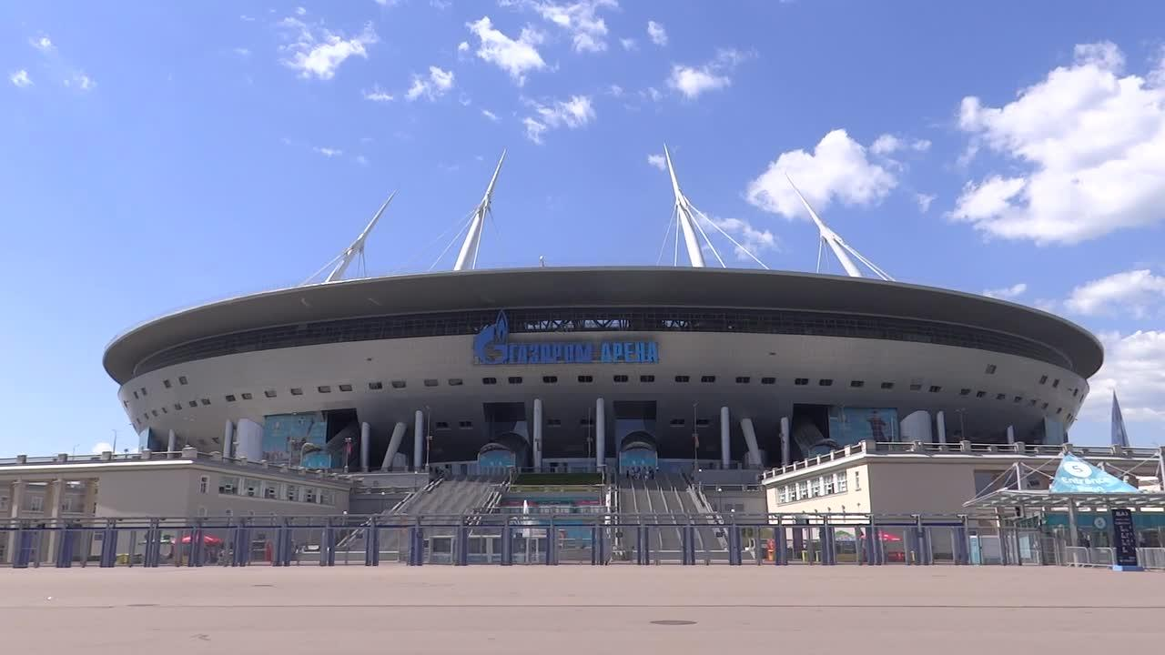 Stadium GazProm Arena is ready to host UEFA EURO 2020 in St Petersburg, Russia