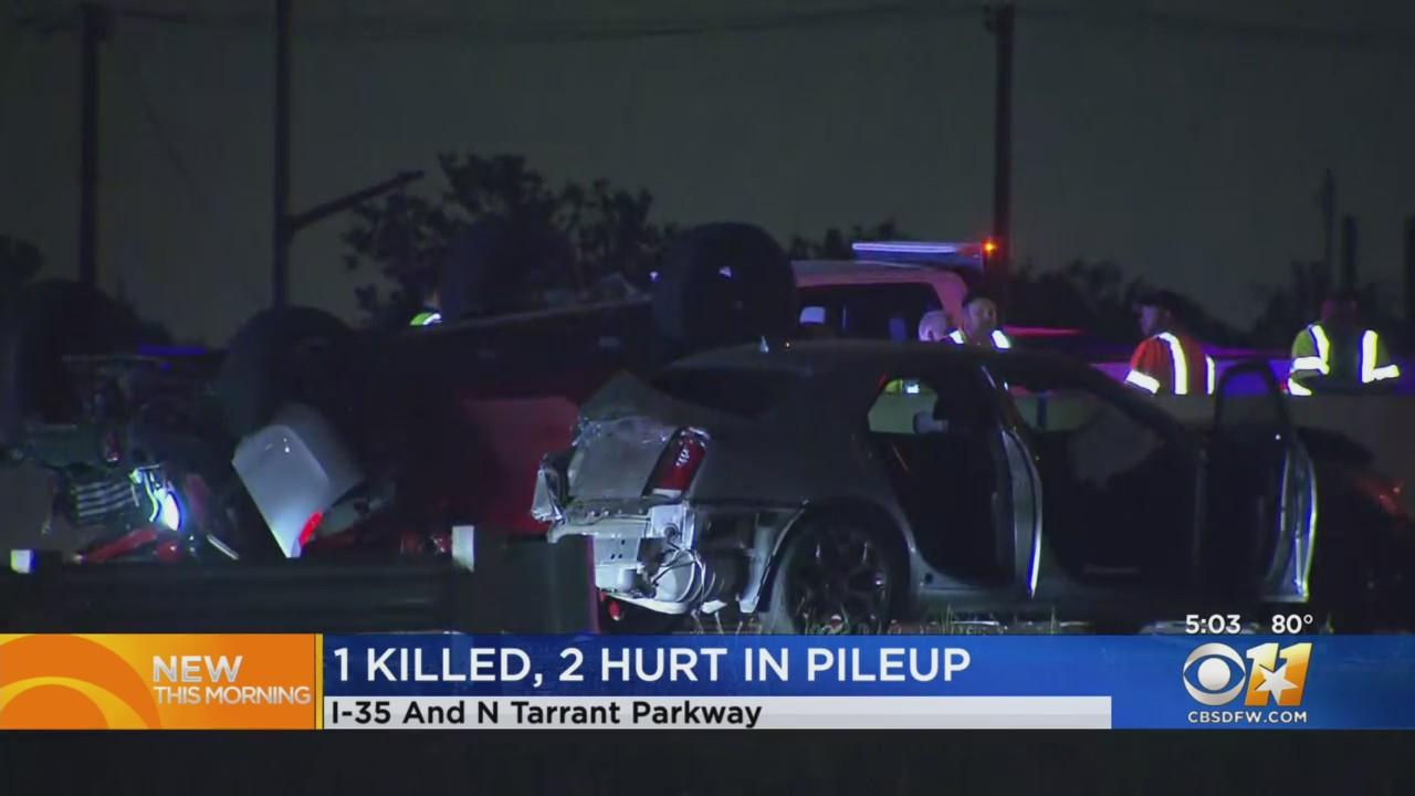 1 Dead After 3 Vehicle Pile-Up With Big Rig On I-35W