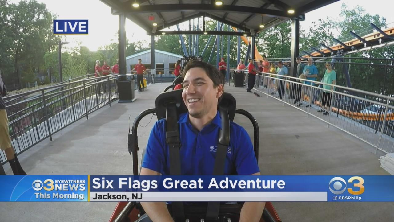 Meteorologist Matt Peterson Prepares To Ride Six Flags Great Adventure's New Rollercoaster