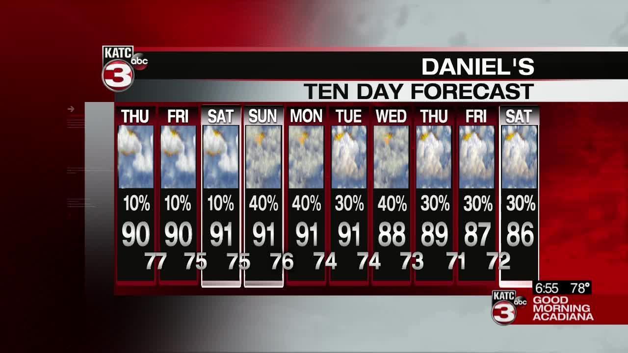 Daniel's Thursday Weathercast 06/10/2021