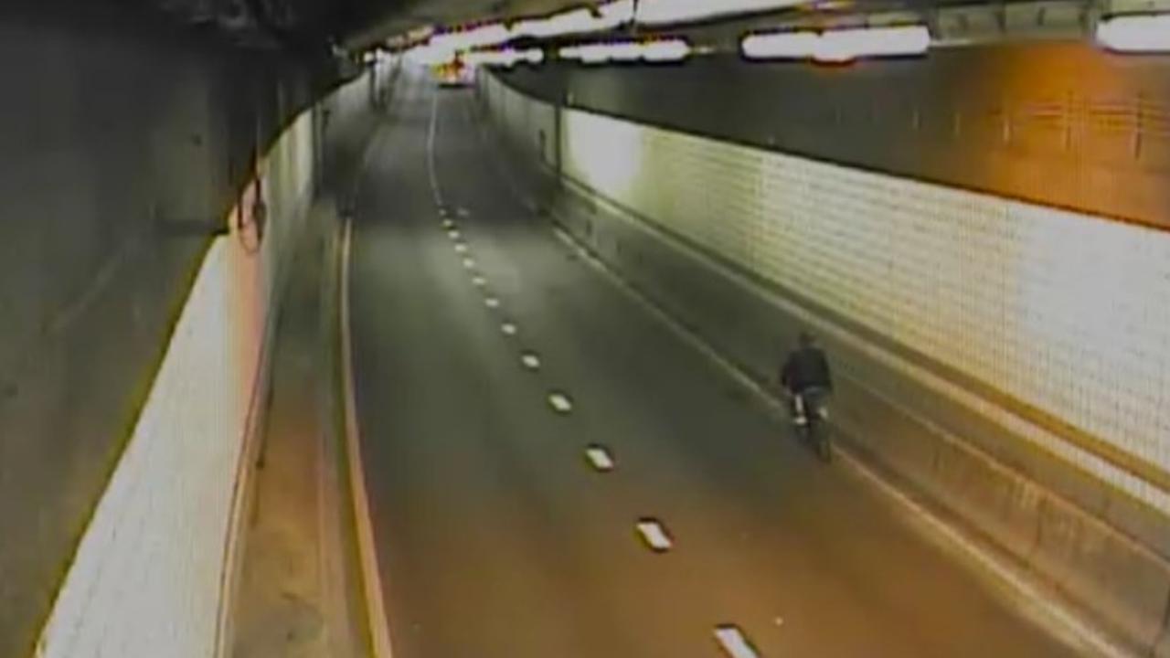 Watch: Biker Rides Through Ted Williams Tunnel