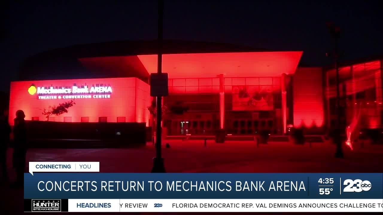 Live music returns to Mechanics Bank Arena