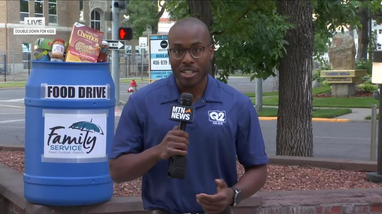 2nd annual Family Service Double Down for Kids food drive kicks off on Montana this Morning
