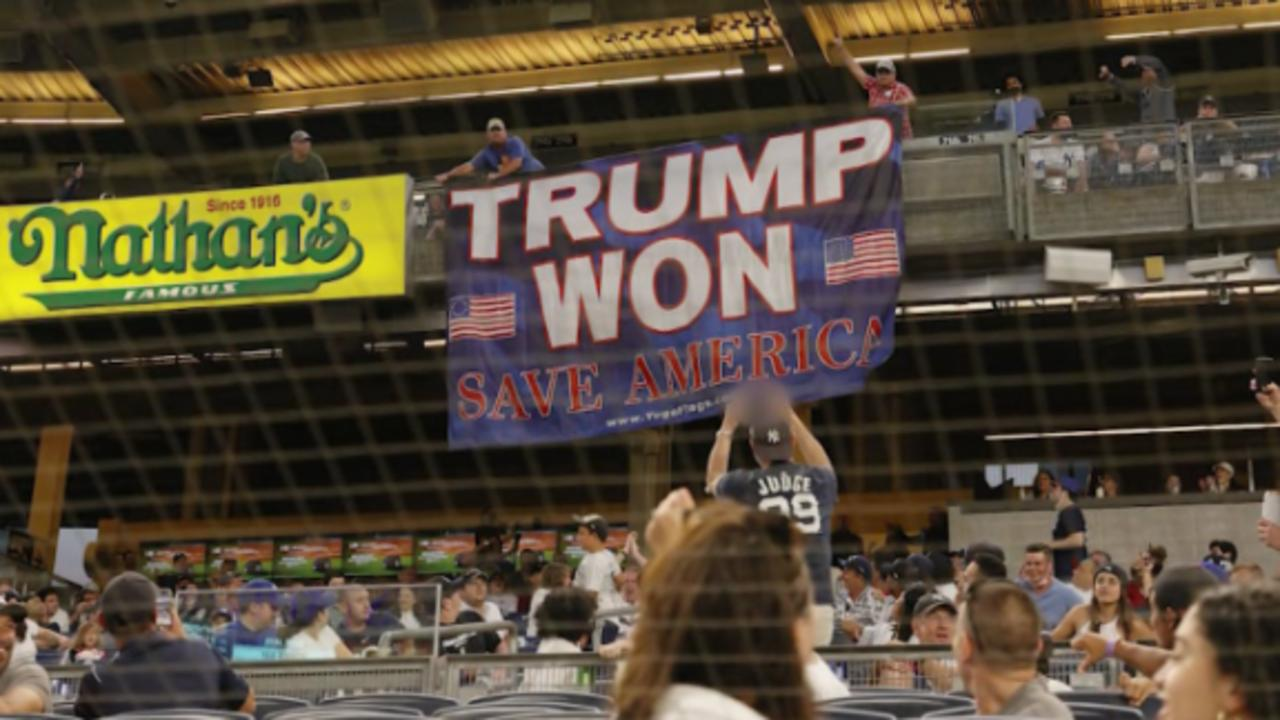 Fan repeatedly ejected from stadiums after displaying 'Trump Won' banner