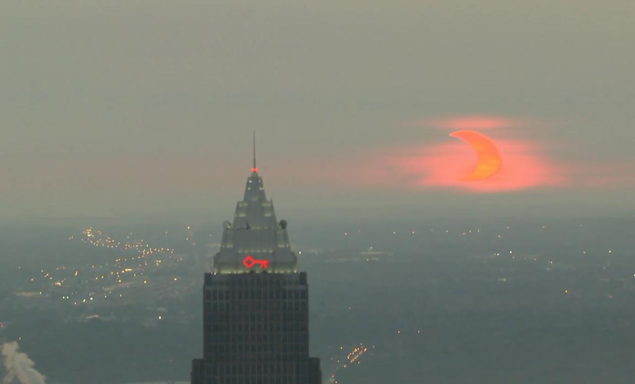 View the partial solar eclipse over Cleveland