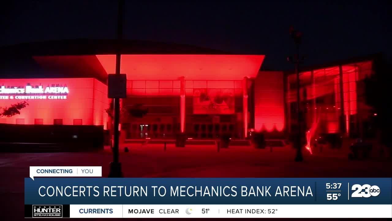 Concerts return to Mechanics Bank Arena