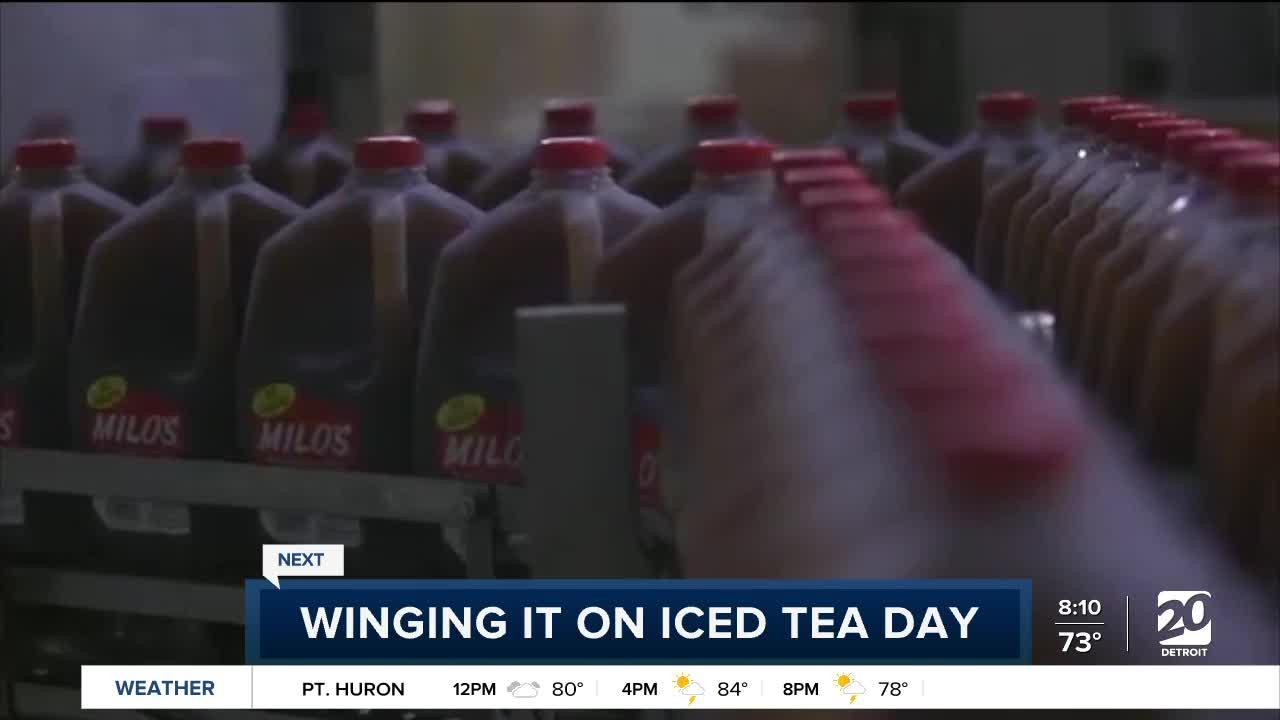 Tea-infused chicken wings on National Iced Tea Day