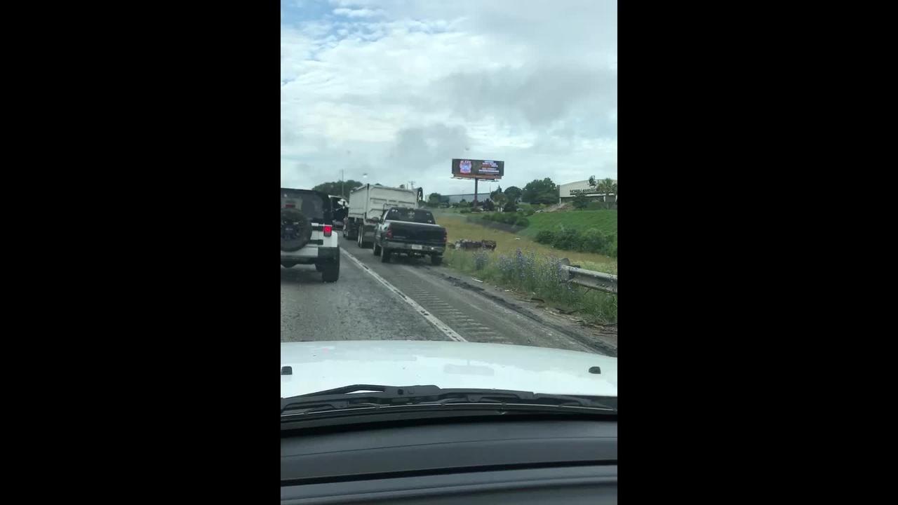 18-wheeler fire on I-85 in Greenville County