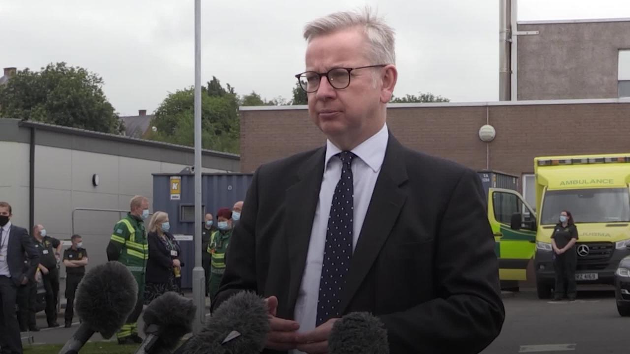 Gove visits NI ambulance workers as part of recovery programme