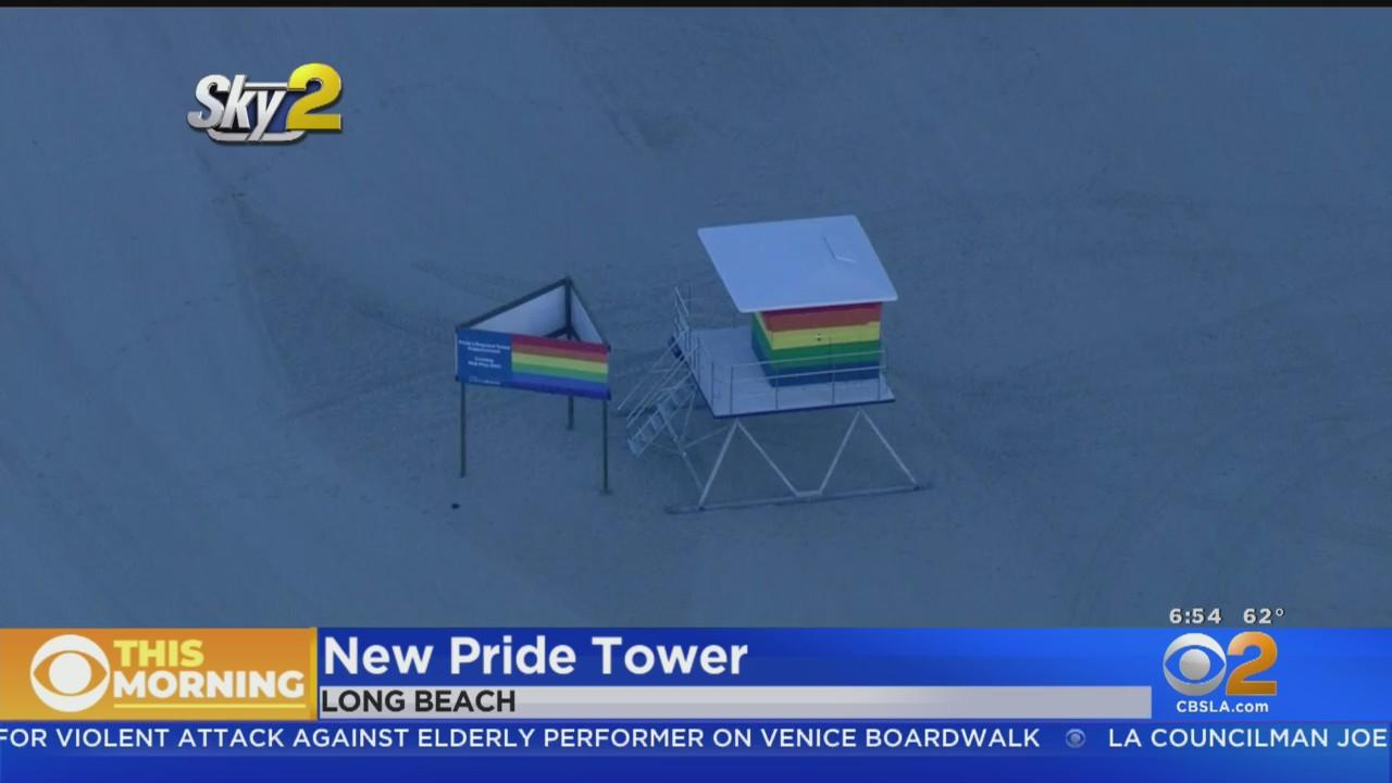 Long Beach To Unveil New Pride Lifeguard Tower To Replace One Destroyed In Fire
