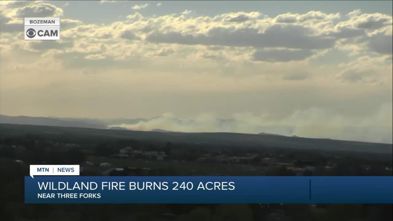 Crews battle wildfire near Three Forks