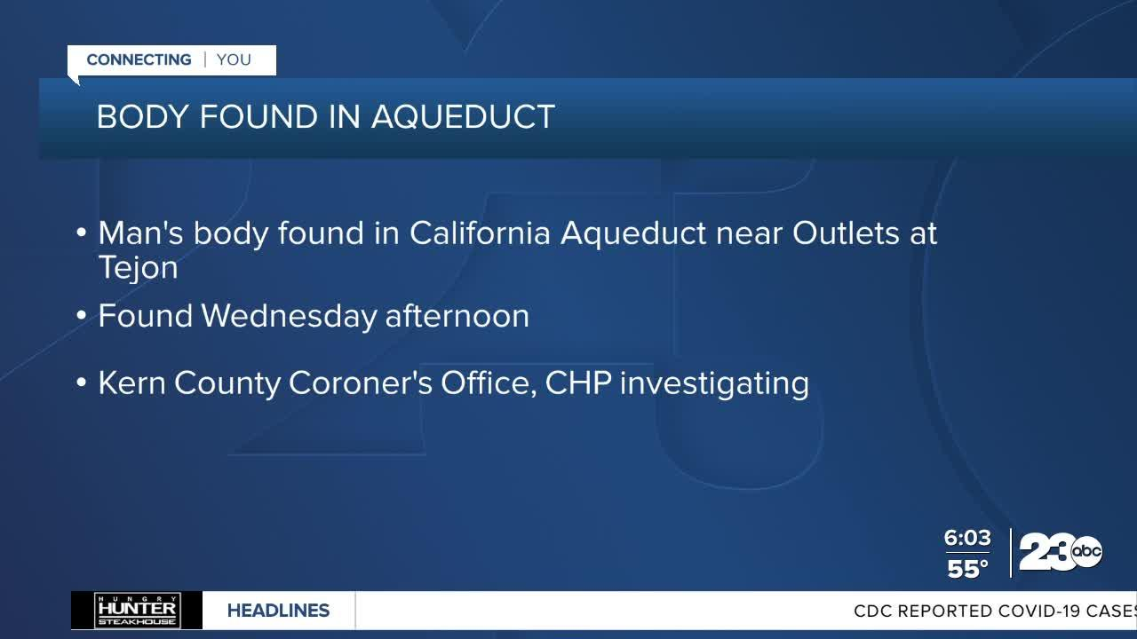 Body found in aqueduct near Outlets at Tejon