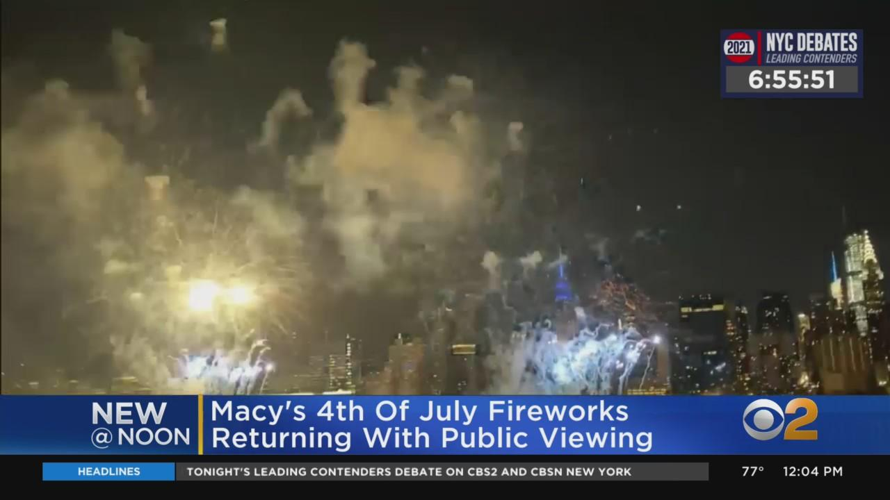 Macy's 4th Of July Fireworks Return With Public Viewing