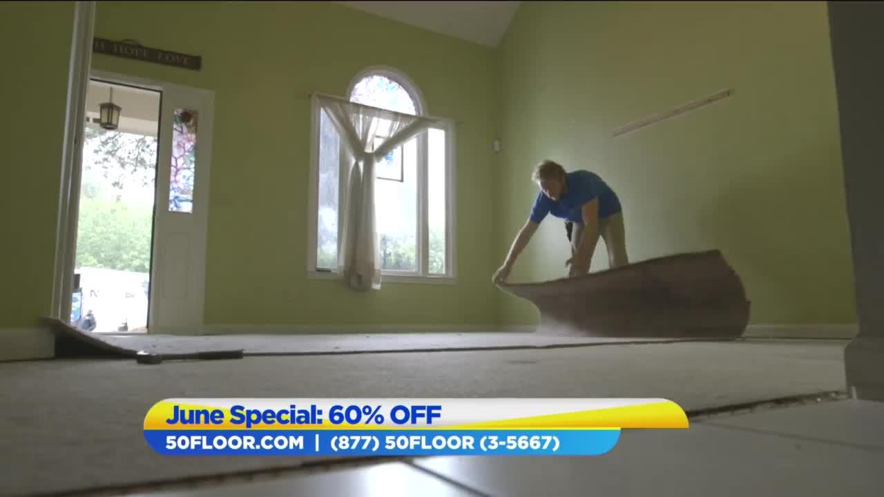 Take 60% off flooring with 50 Floor