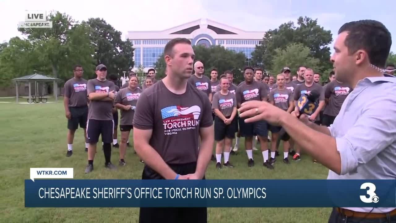 Chesapeake Sheriff's Office Torch Run for Special Olympics VA