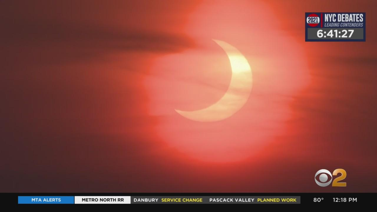 Rare Sunrise Eclipse Across Tri-State Area