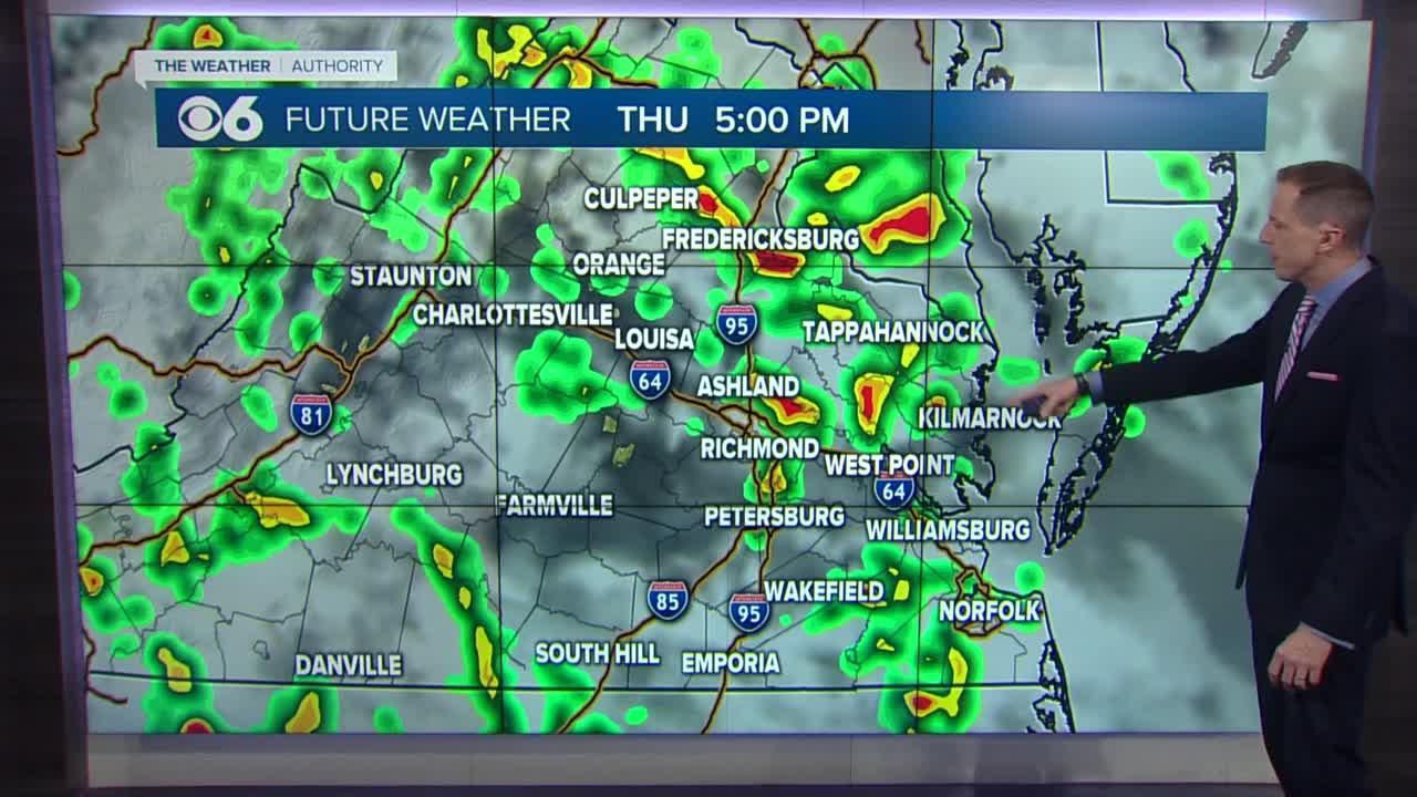 More showers and storms