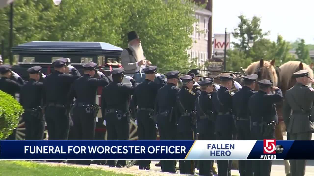 Worcester honors city's hero as funeral held for fallen officer