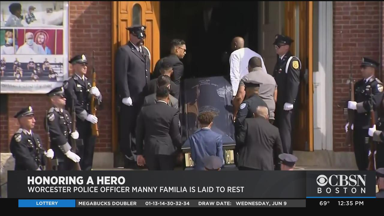 Procession Through Worcester Honors Fallen Police Officer Manny Familia