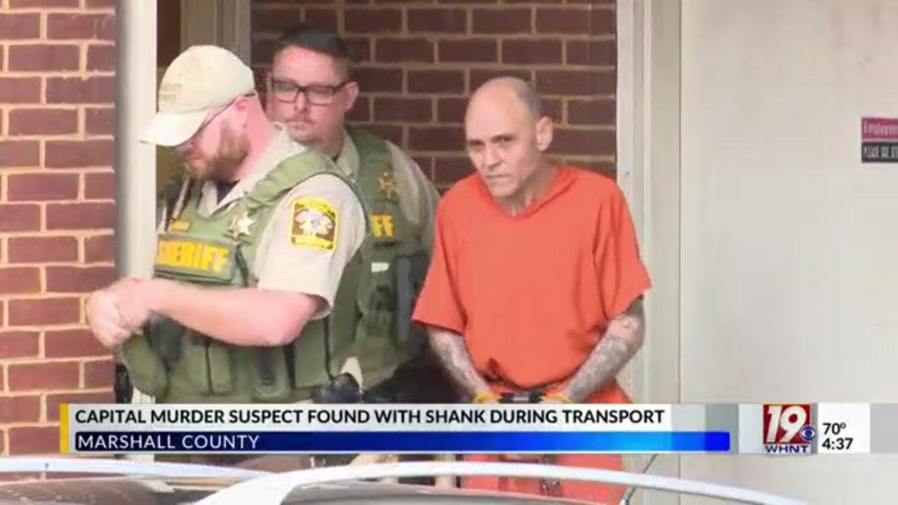 Jailed Alabama murder suspect found with homemade weapon