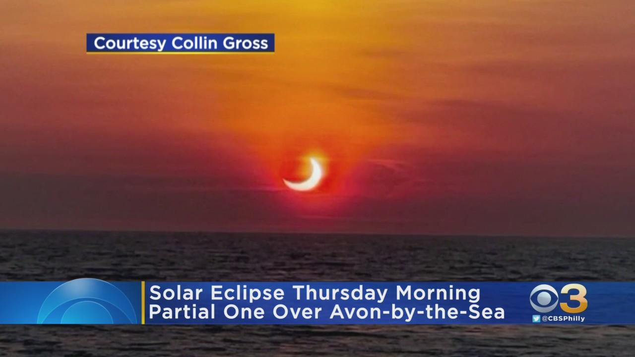 Solar Eclipse Thursday Morning Caught On Video Over Ocean In New Jersey