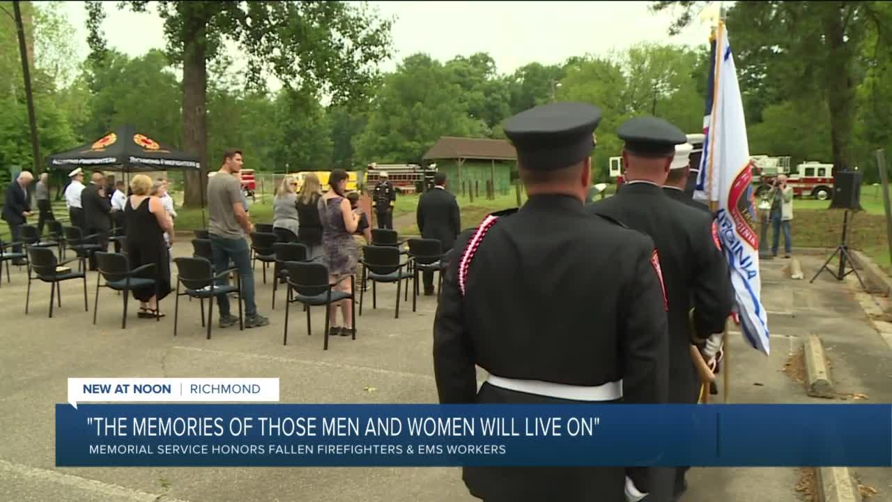 Honoring fallen firefighters and EMS workers in Richmond