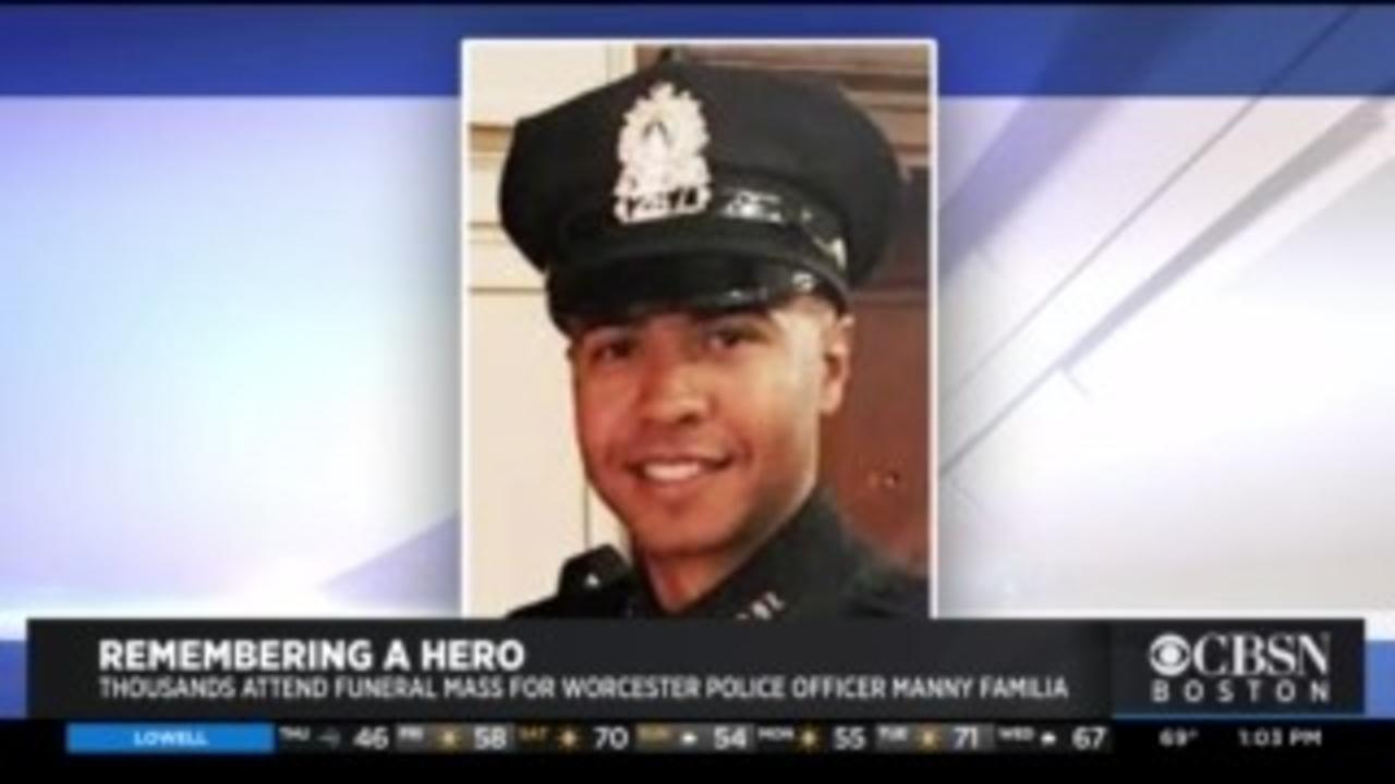 Remembering A Hero: Thousands Attend Funeral Mass For Worcester Police Officer Manny Familia