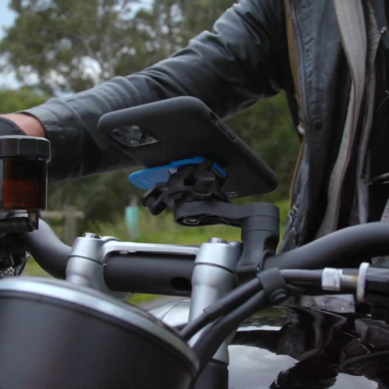 Keep your phone stabilized on your bike wherever you go with Quad Lock