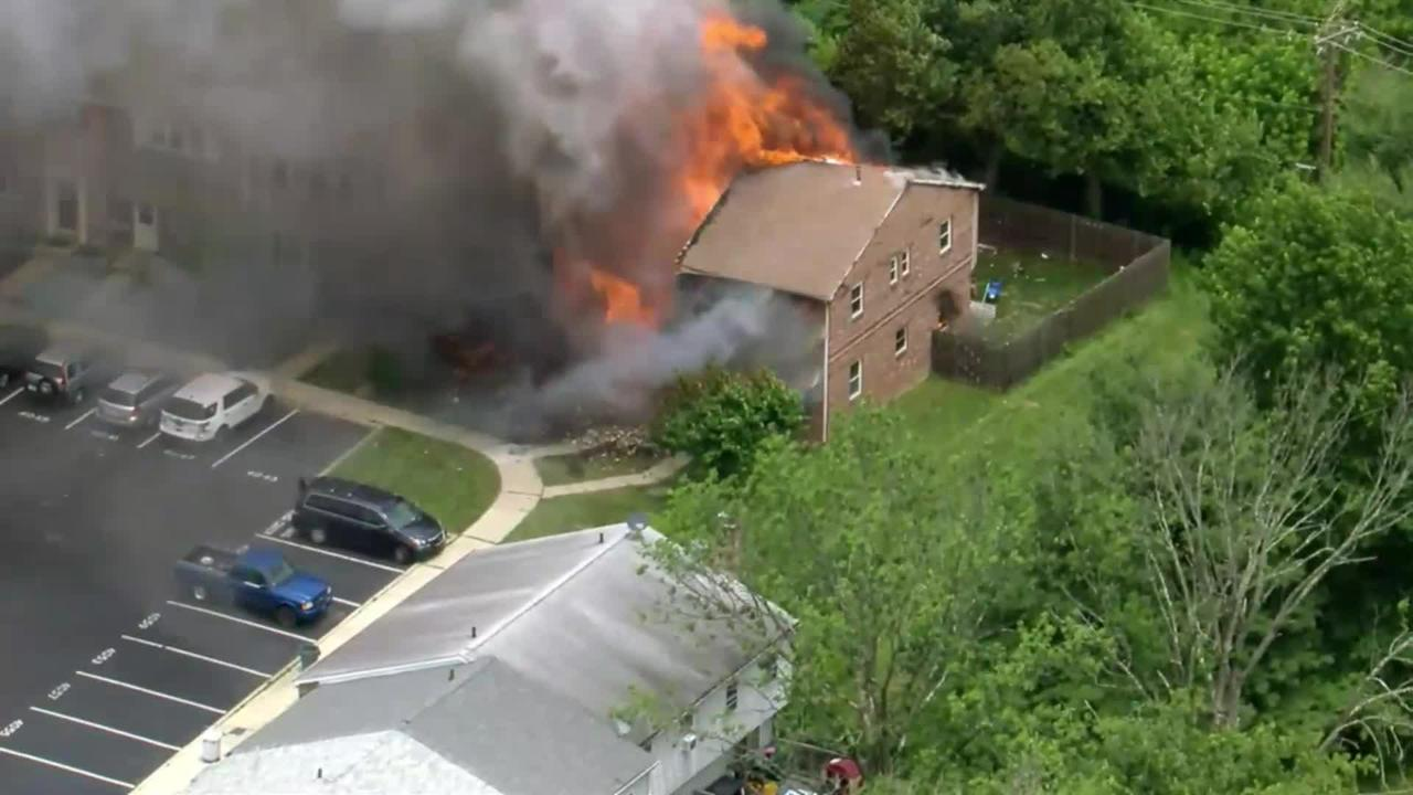 Chopper 3 Over Fire At Eaglestream Apartments In Lower Providence