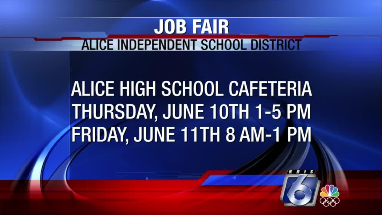 Alice ISD will conduct job fair beginning Thursday