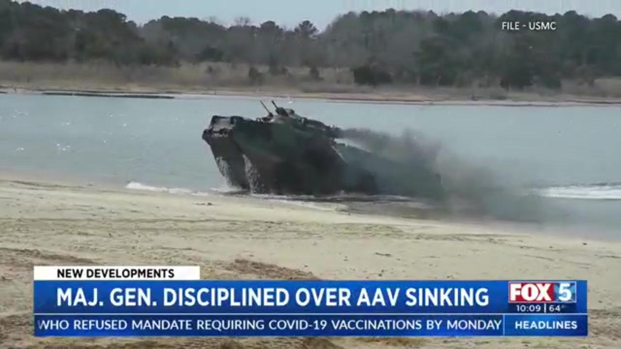 Marine Corps general fired over deadly amphibious vehicle sinking
