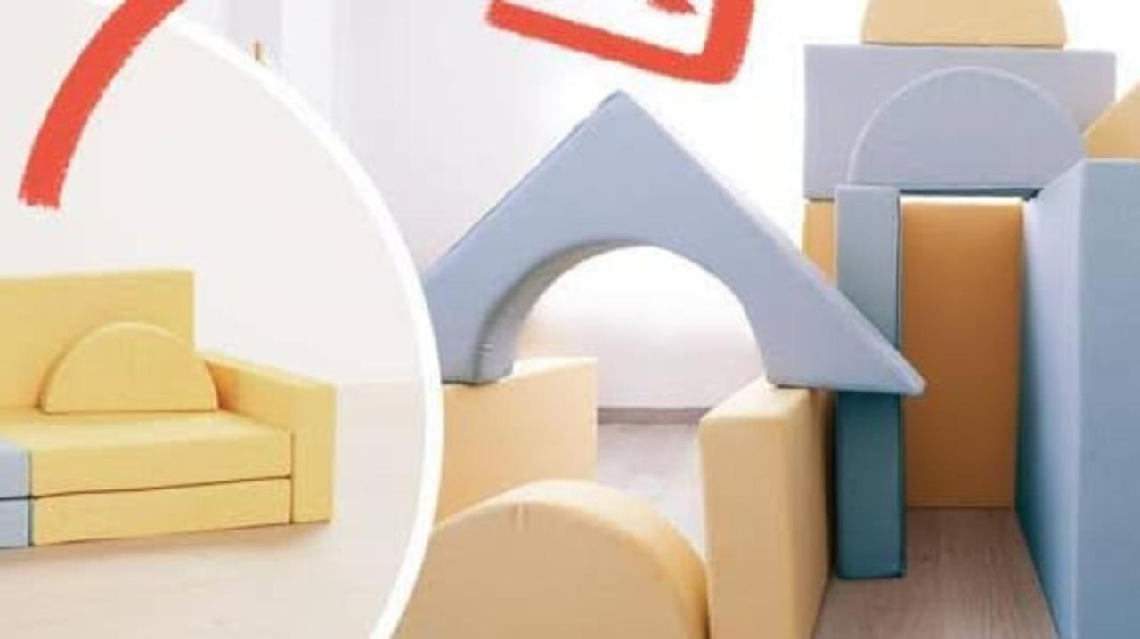 Kids will love this awesome magnetic play couch