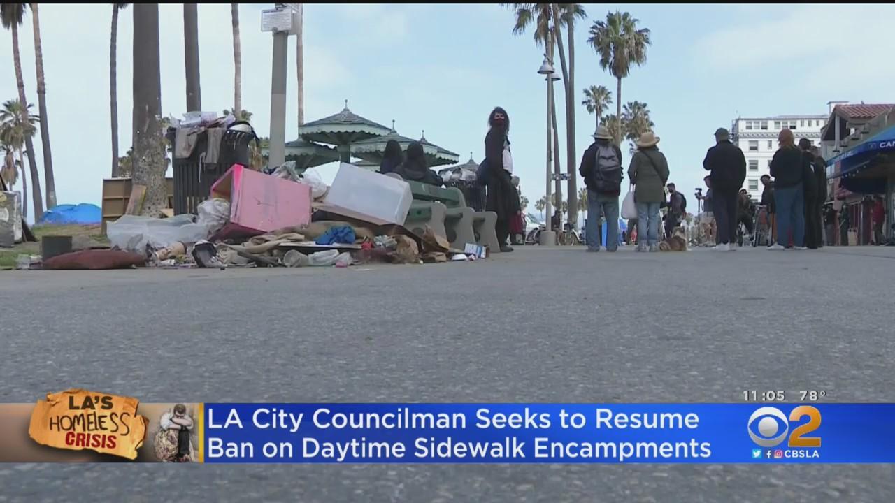 Councilman Proposes LA Resume Ban On Daytime Homeless Encampments