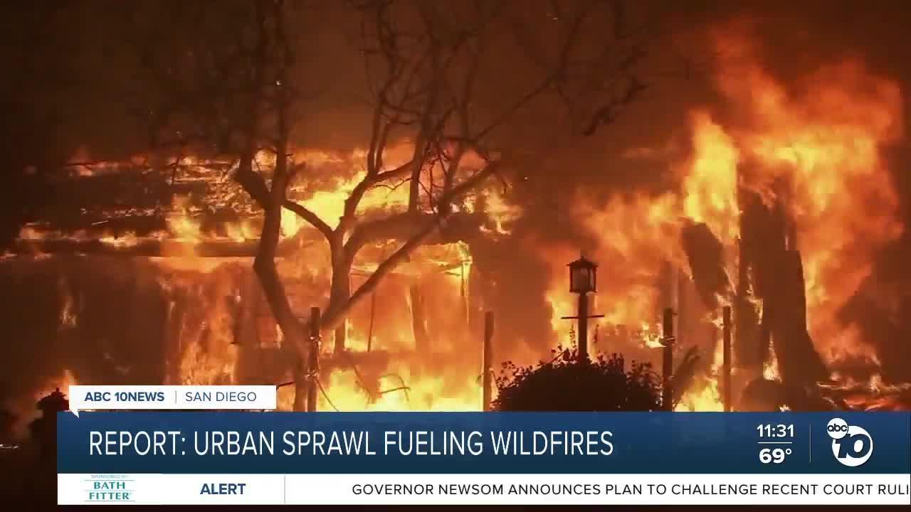 Report: Urban sprawl fueling wildfires