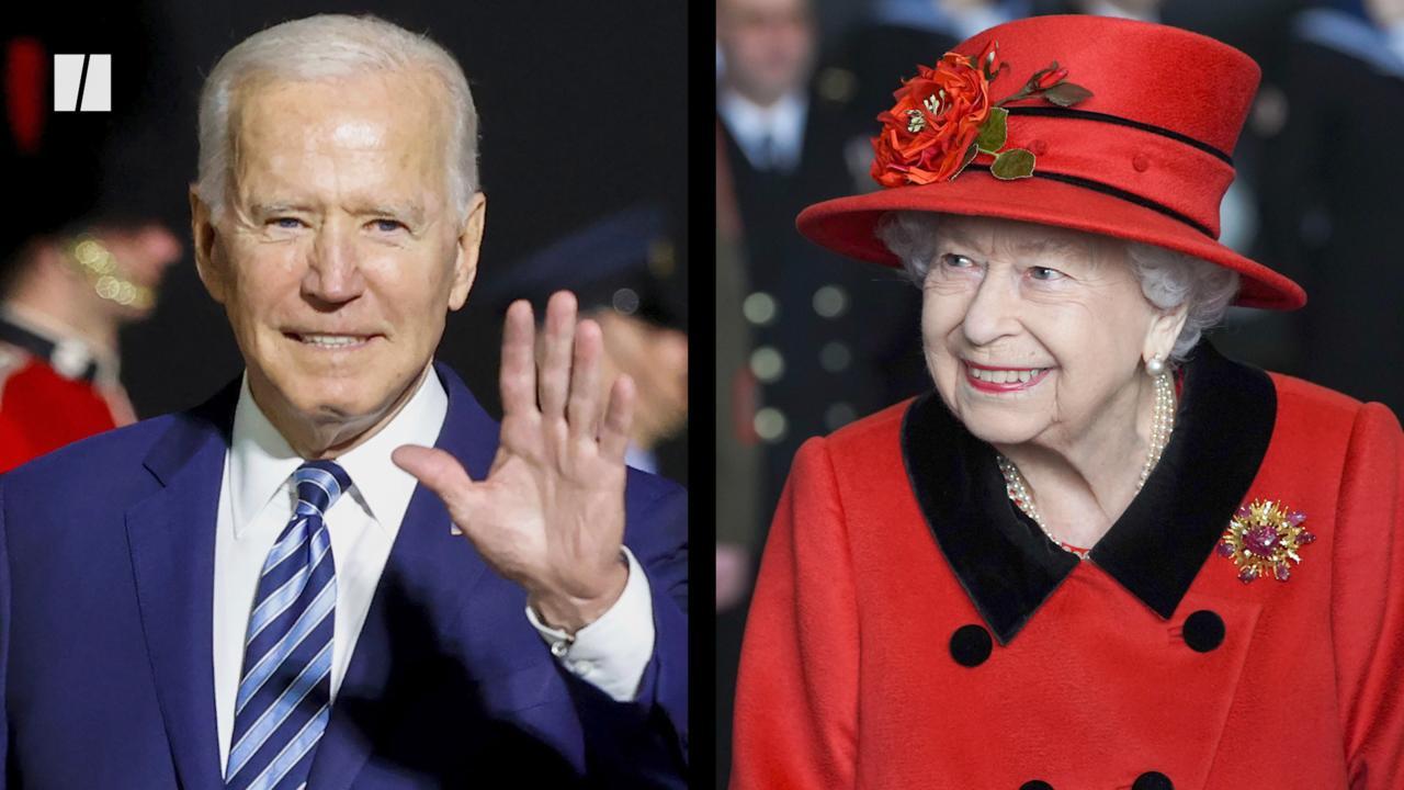 President Joe Biden And Queen Elizabeth