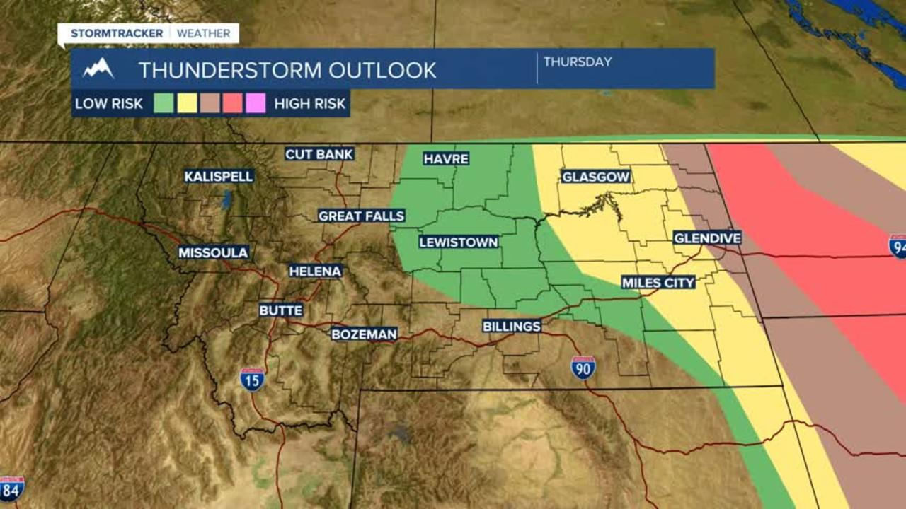 Active pattern this afternoon for Montana