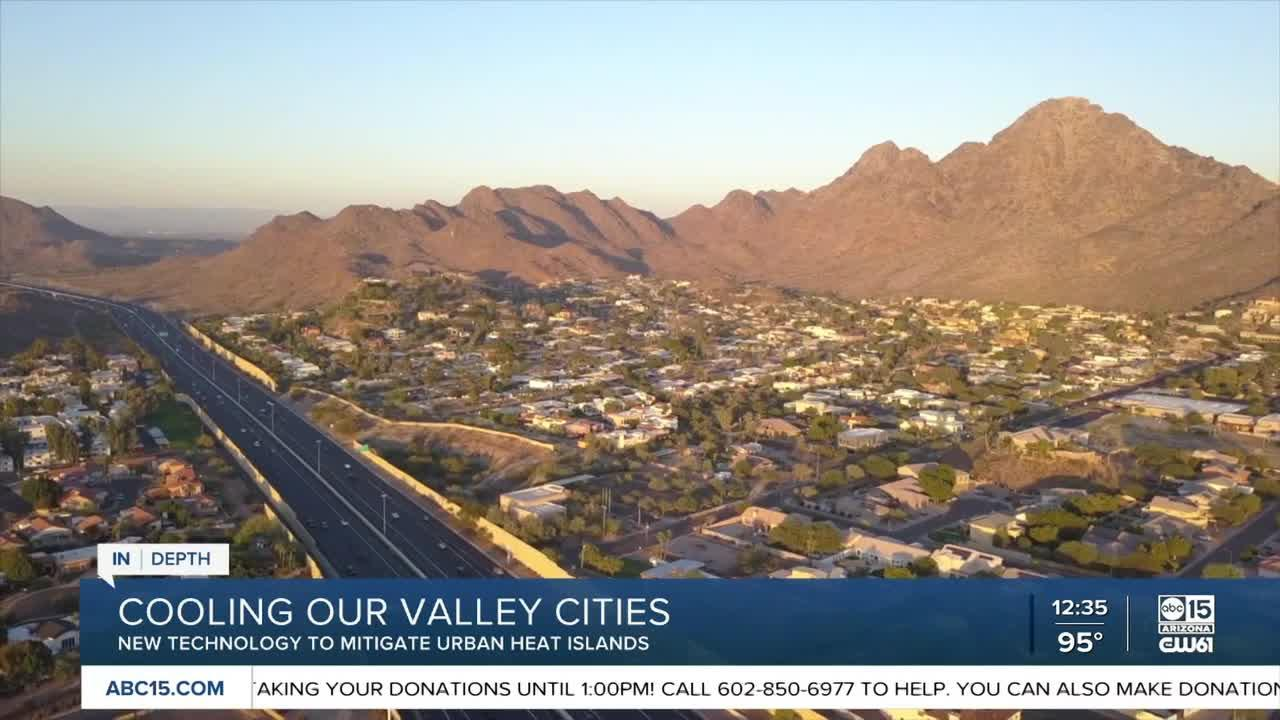 Technology being tested in Phoenix could make cities cooler