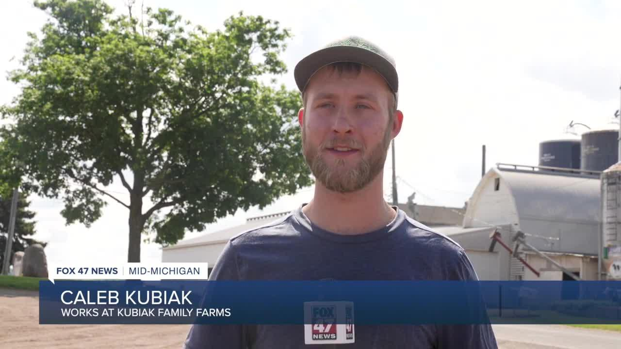 Caleb Kubiak works on the Kubiak Family Farms and said they got a call last year from Bryan's manager but didn't think it was re