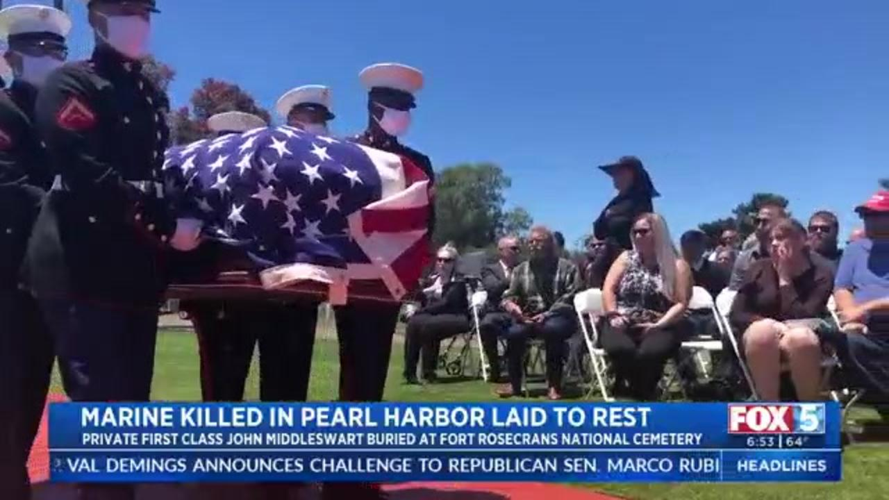 Marine killed at Pearl Harbor finally laid to rest in San Diego