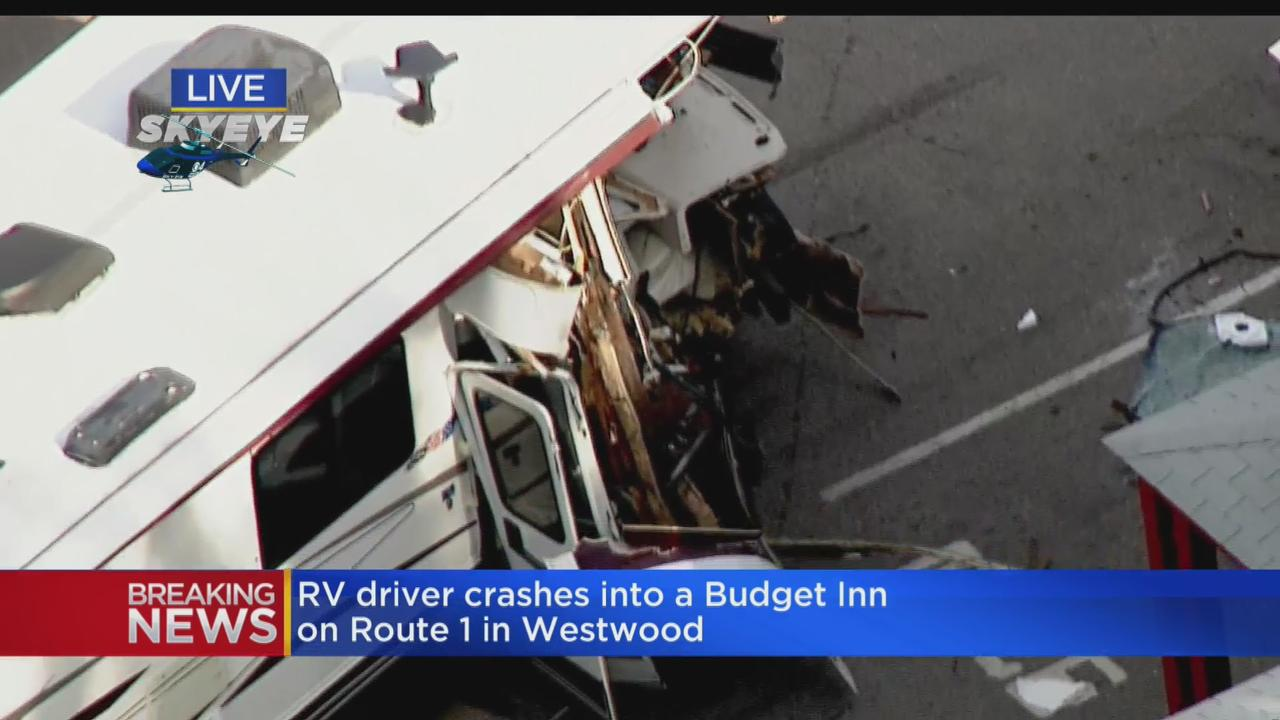RV Crashes Into Motel In Westwood
