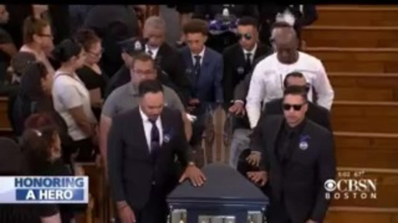 'One Of A Kind,' Thousands Pay Final Respects At Funeral For Worcester Police Officer Manny Familia