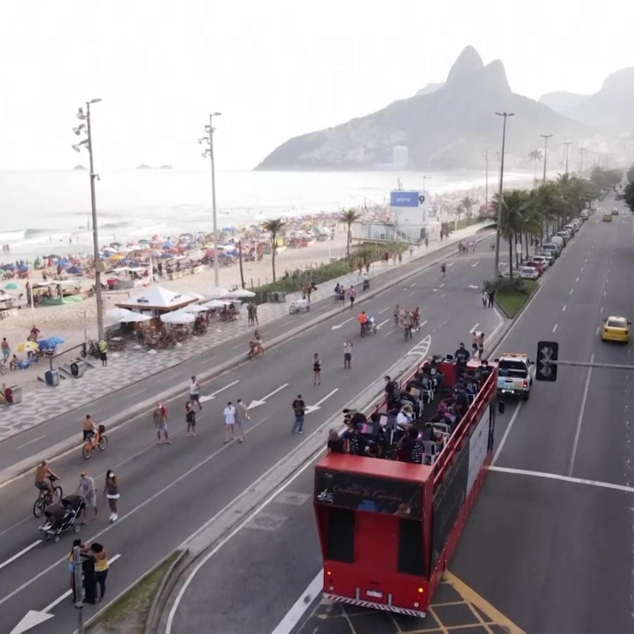 This mobile orchestra serenades the city of Rio de Janeiro
