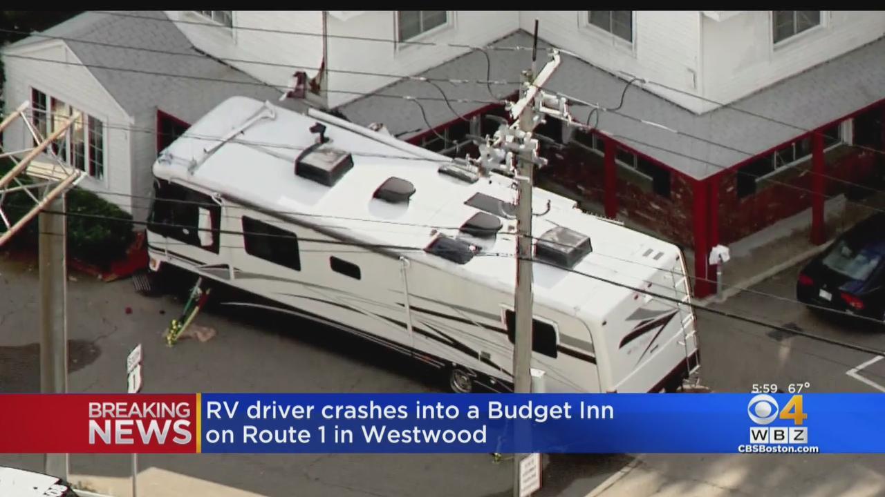 RV Crashes Into Westwood Motel