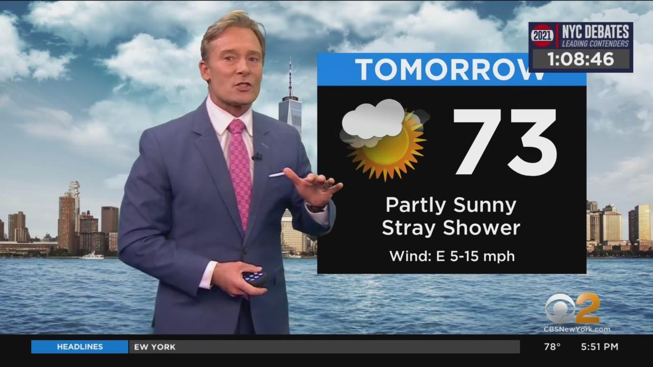 New York Weather: CBS2's 6/10 Thursday Evening Update