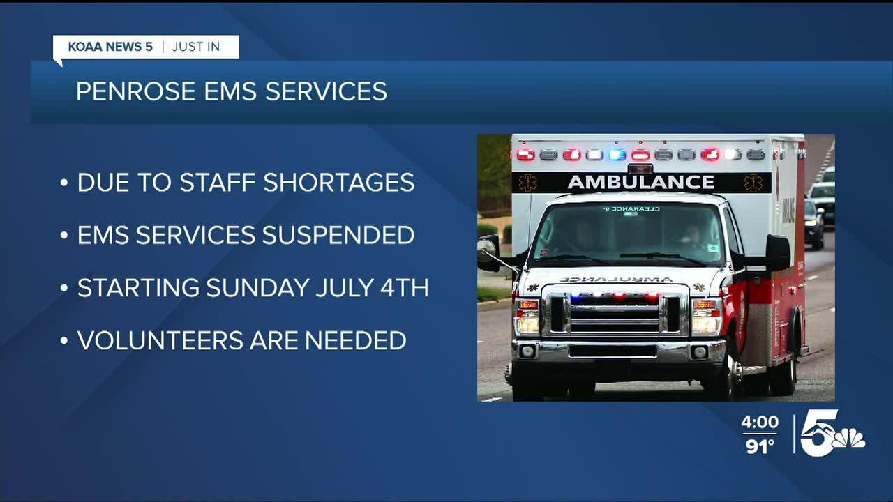 Penrose EMS suspending ambulance service after July 4