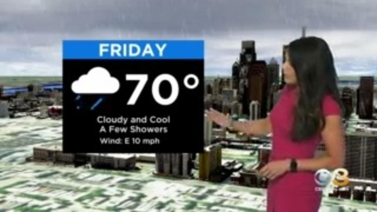 Philadelphia Weather: Cloudy And Cool Friday