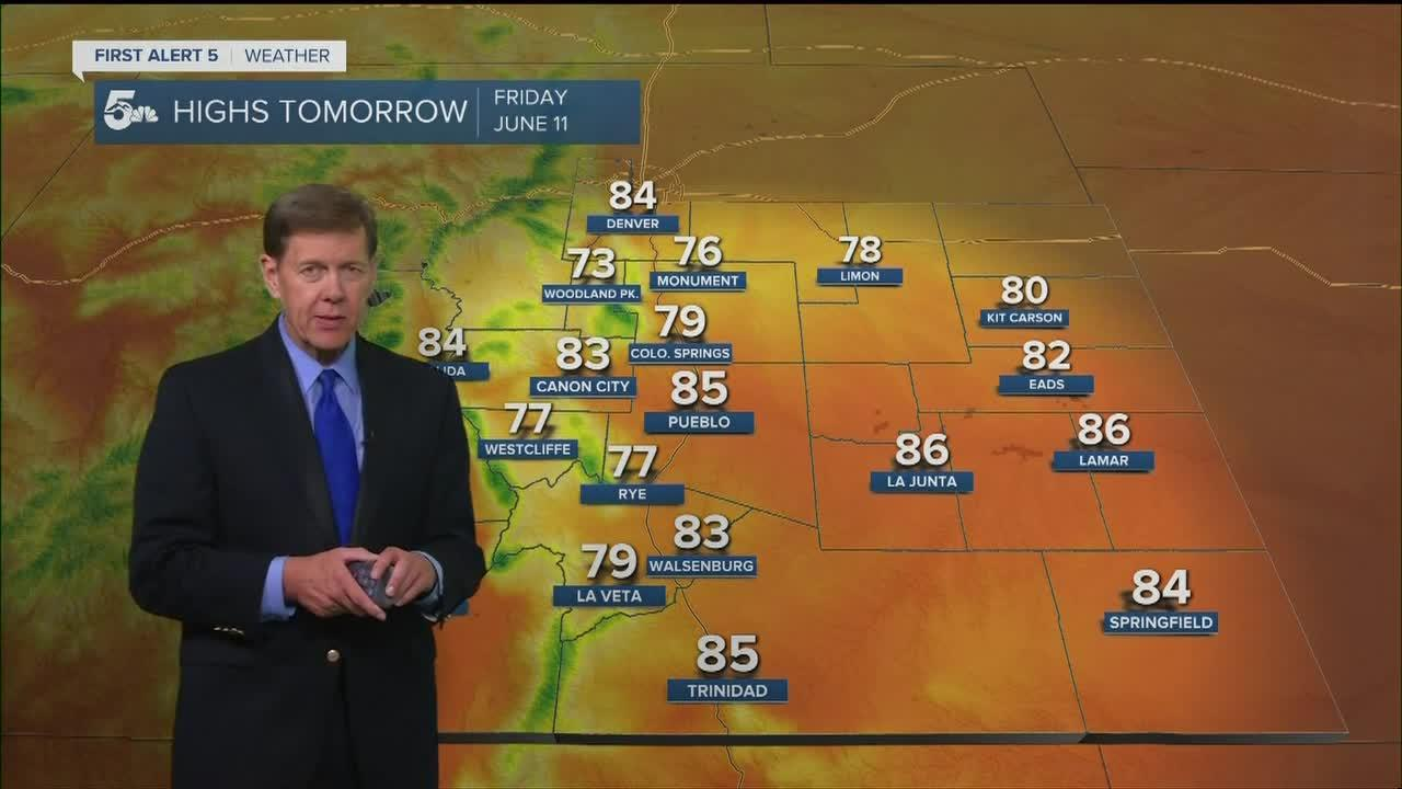 Overnight cold front brings brief heat relief