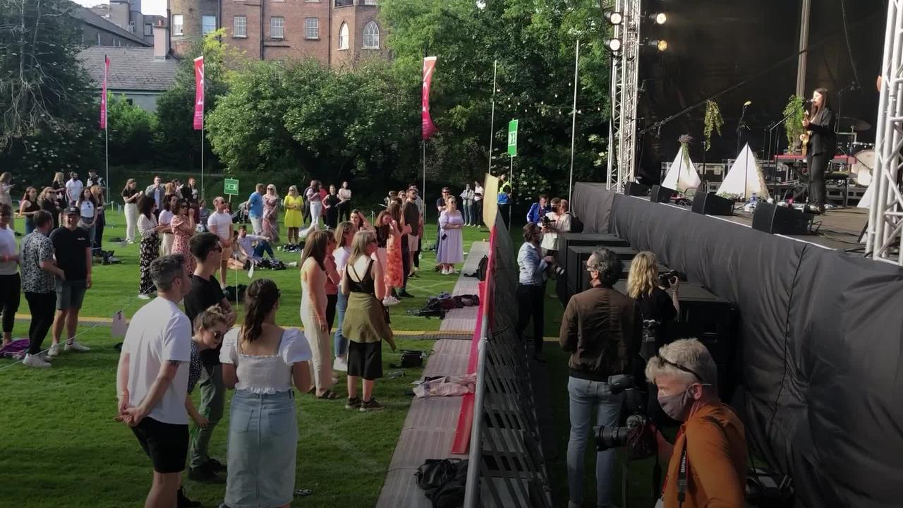 Fans return to live music in Ireland